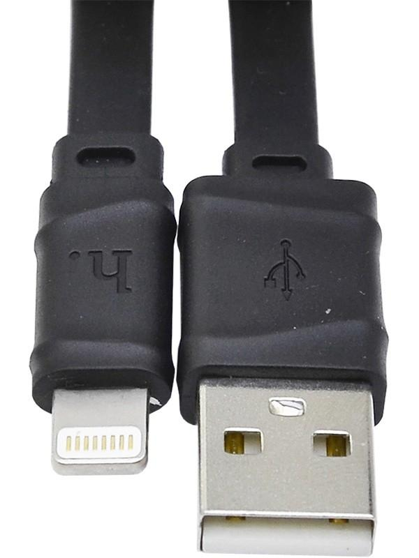 Кабель USB Lightning  for Iphone 5/6 HOCO X5, черный