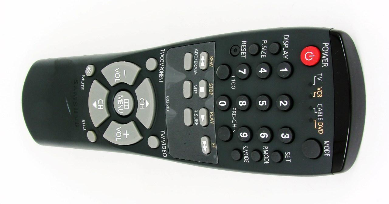 Пульт для TV + VCR + DVD SAMSUNG AA59-00251B (TV\VCR\CABLE\DVD)  (оригинал)