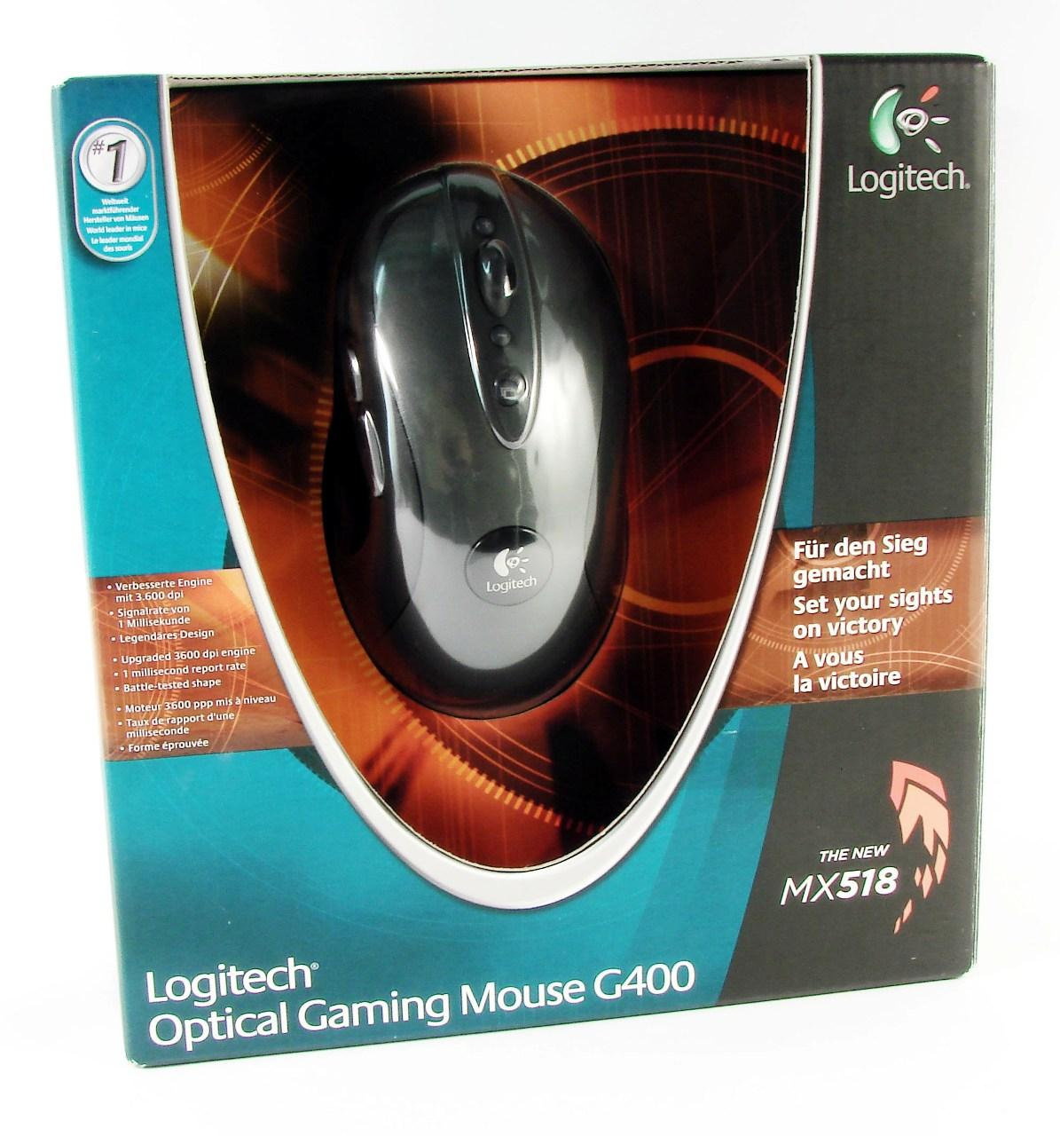 Мышь USB Logitech G400 optical gaming (910-002278)
