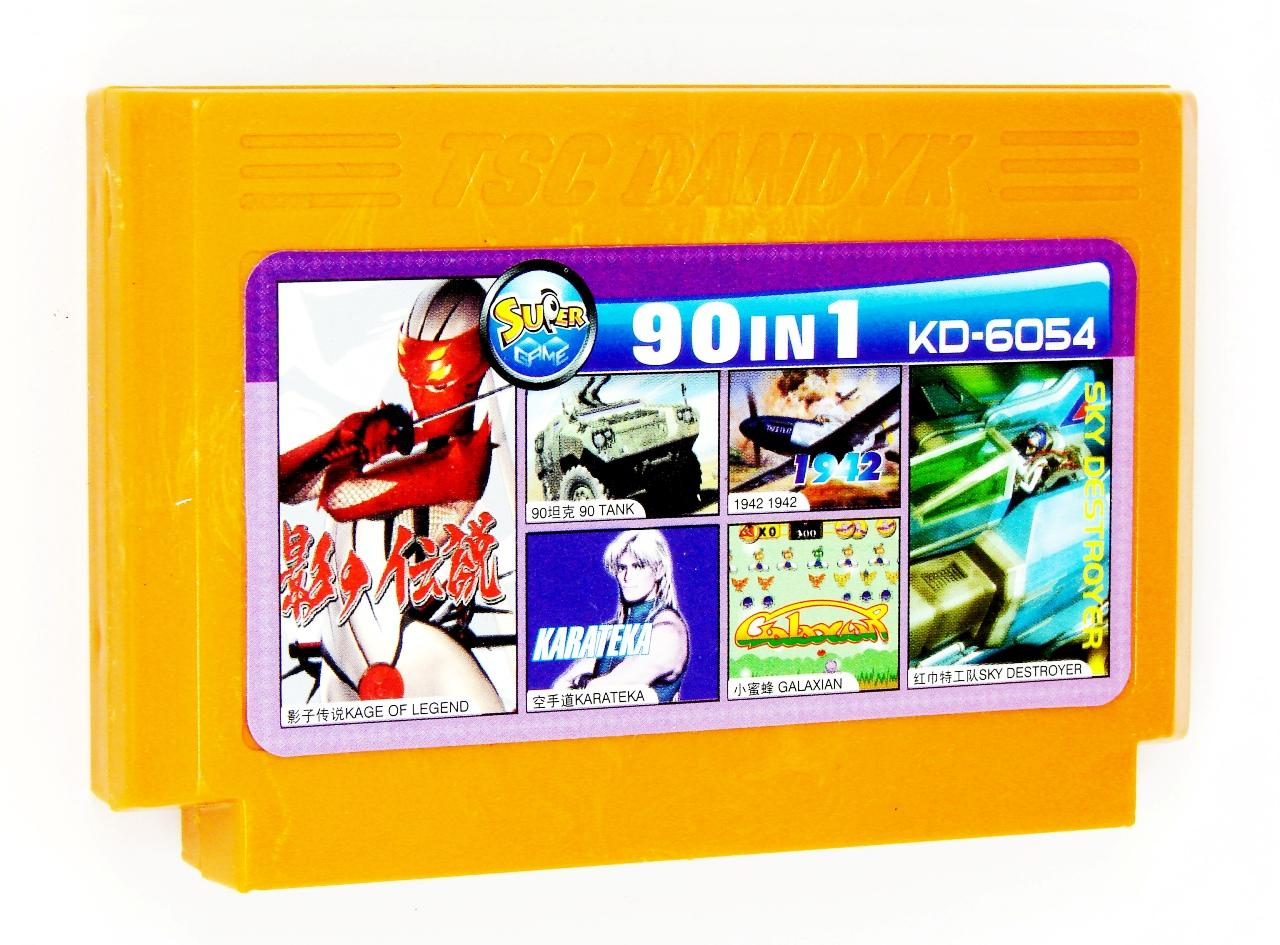 Картридж для Денди KD 6054 90 in 1 (Dendy), 90 Tank, Galaxian, Baltron, Legend of Kage, Sky Destroyer, Karateka