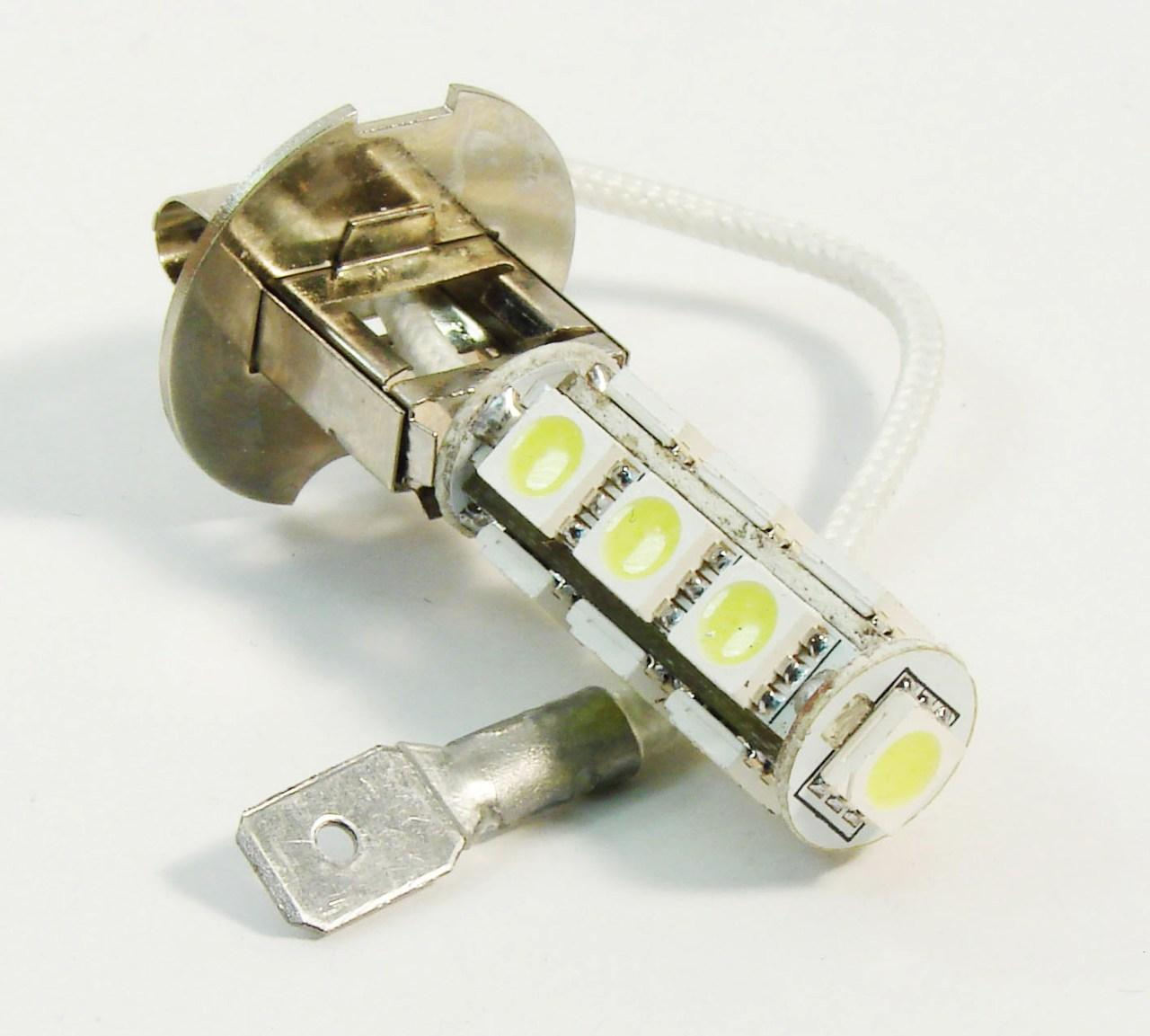 Автолампа светодиодная 13 LED H3 13-5050-SMD LED Car Front Head Fog Light Headlight Bulb Pure White