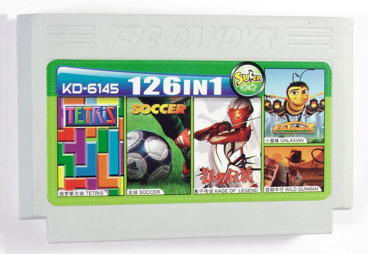 Картридж для Денди KD 6145 126 in 1 (Dendy), Tetris, Galaxian, Wild Gunman, Legend of Kage, Soccer